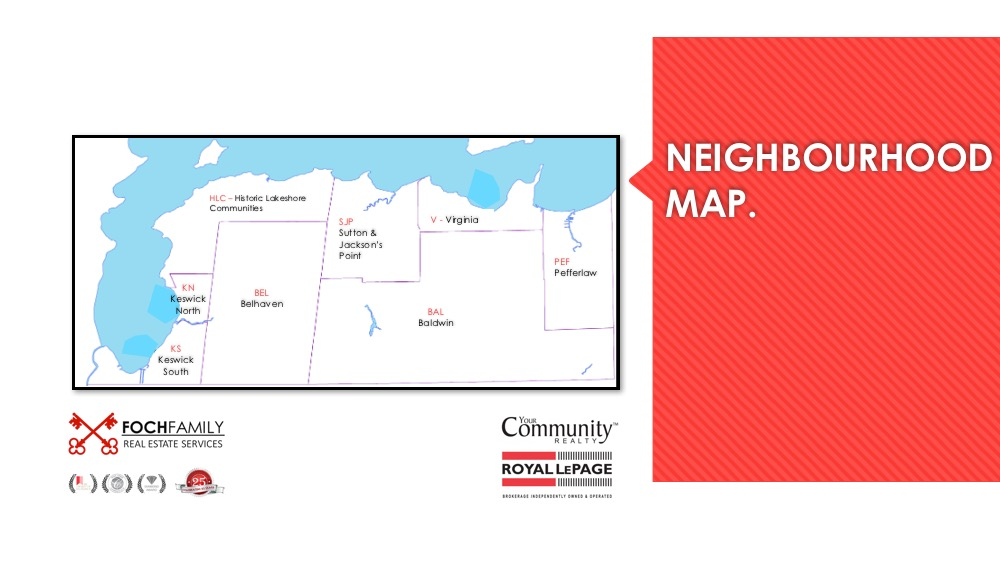 Georgina Ontario real estate neighbourhood map
